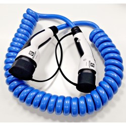 Coiled cable Type2 EV charging